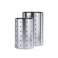 Zack Quadro Brushed Stainless Steel 37.5cm Waste Paper Basket 50512