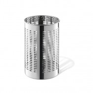 Zack Proda Polished Stainless Steel Round 31.5cm Waste Paper Basket 50533
