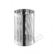 Zack Proda Polished Stainless Steel Round 31.5cm Waste Paper Basket 50533