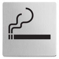 Zack Indici Brushed Stainless Steel Information Sign - Smoking Area 50720