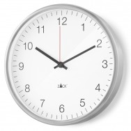 Zack Palla Brushed Stainless Steel Quartz 24cm Wall Clock 60025
