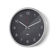 Zack Palla Brushed Stainless Steel Quartz 24cm Wall Clock - Black 60026