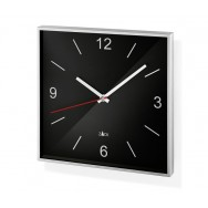 Zack Sillar Brushed Stainless Steel Square Wall Clock - Black 60052