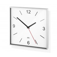 Zack Sillar Brushed Stainless Steel Square Wall Clock - White 60053