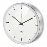 Zack Durata Brushed Stainless Steel 24cm Circular Wall Clock 60060