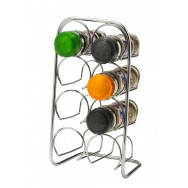 Pisa 8 Jar Spice Rack - Chrome