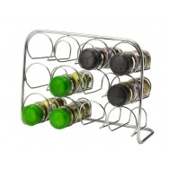 Pisa 12 Jar Spice Rack - Chrome