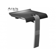 Pellet Arsis Evolution Foldaway Shower Seat - Anthracite Grey with Light Grey Leg