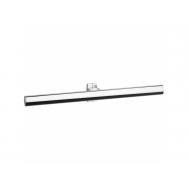 Pellet Arsis 53.5cm Elliptical Double Towel Rail - Bright Anodized Aluminium