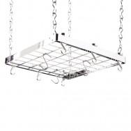 Hahn Premium Collection Square Chrome Ceiling Pan Rack 40802