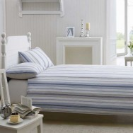 Caister Single Bed Set - Beige & Blue Stripes