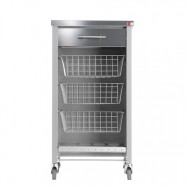 Chelsea Kitchen Trolley - Silver Grey