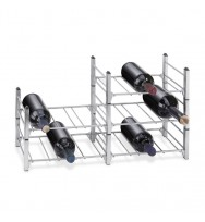 Zack Aldo Brushed Stainless Steel Bottle Rack (Base Module) 20543