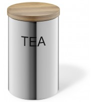 Zack Cera Brushed Stainless Steel Tea Canister 24004