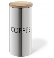 Zack Cera Brushed Stainless Steel Coffee Canister 24006