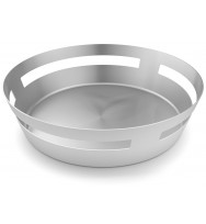 Zack Vareo Brushed Stainless Steel Bread or Fruit Basket 30653