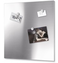 Zack Percetto Brushed Stainless Steel 55cm Magnetic Board 30752