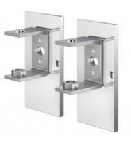 Zack Linea Polished Stainless Steel Wall Bracket, set/2 (for adhesive attachment)