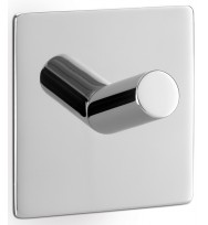 Zack Duplo Polished Stainless Steel Square Towel Hook 40071