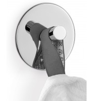 Zack Duplo Polished Stainless Steel Circular Towel Hook 40072