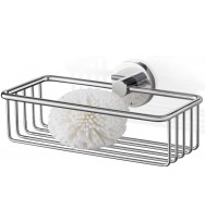 Zack Scala Polished Stainless Steel 23.5cm Shower Basket 40084
