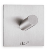 Zack Duplo Brushed Stainless Steel Square Towel Hook 40205