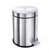 Zack Vasca Brushed Stainless Steel 27cm Pedal Bin 40300