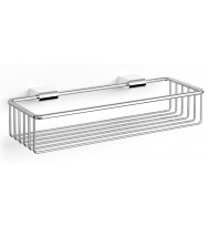 Zack Atore Polished Stainless Steel 36.8cm Wall Shower Basket 40464