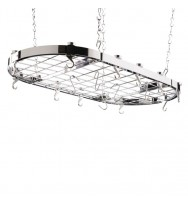 Hahn Premium Collection Oval Chrome Ceiling Pan Rack 40801