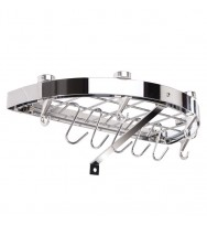 Hahn Premium Collection Half-Round Chrome Wall Rack 40804