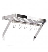 Hahn Premium Collection Chrome Rectangular Wall Rack 40806