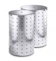 Zack Quadro Brushed Stainless Steel 69ltr Laundry Bin 50515