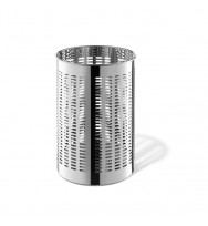 Zack Proda Polished Stainless Steel Round 36.5cm Waste Paper Basket 50534