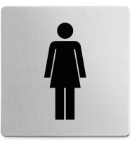 Zack Indici Brushed Stainless Steel Information Sign - Women 50714