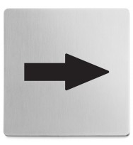 Zack Indici Brushed Stainless Steel Information Sign - Arrow 50716