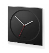 Zack Hoyo Brushed Stainless Steel Square Wall Clock - Black 60050