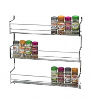 Metro 3 Tier Wall/Cupboard Spice Rack - Chrome