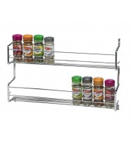 Metro 2 Tier Wall/Cupboard Spice Rack - Chrome