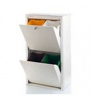 Cubek Ivory White Recycle Bin - 4 Bin