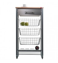 April Beech Kitchen Trolley