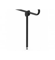 Pellet Arsis Evolution Adjustable Support Prop for Hinged Bar - Anthracite Grey Epoxy-coated Aluminium
