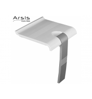 Pellet Arsis Evolution Foldaway Shower Seat - White & Grey