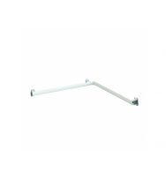 Pellet Arsis Two-Wall Corner Grab Bar - White Epoxy-coated Aluminium