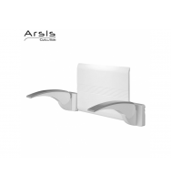 Pellet Arsis Evolution Backrest + 2 Armrests - White & Grey