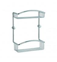 Cabin Double Shower Basket CK377 - Polished Chrome