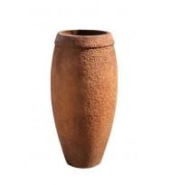 Satu Bumi Collar Jar Planter - Rust Wet