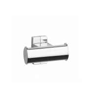 Pellet Arsis Double Elliptical Robe or Towel Hook - Bright Anodized Aluminium