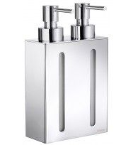 Smedbo Outline Polished Chrome Double Wall Soap Dispenser FK258