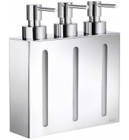 Smedbo Outline Polished Chrome Triple Wall Soap Dispenser FK259