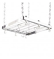 Hahn Premium Collection Square Chrome Ceiling Pan Rack 40802